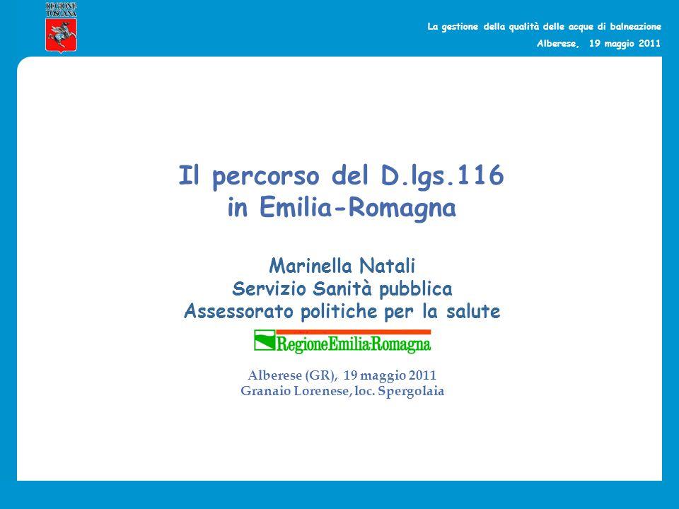 Il percorso del D.lgs.116 in Emilia-Romagna