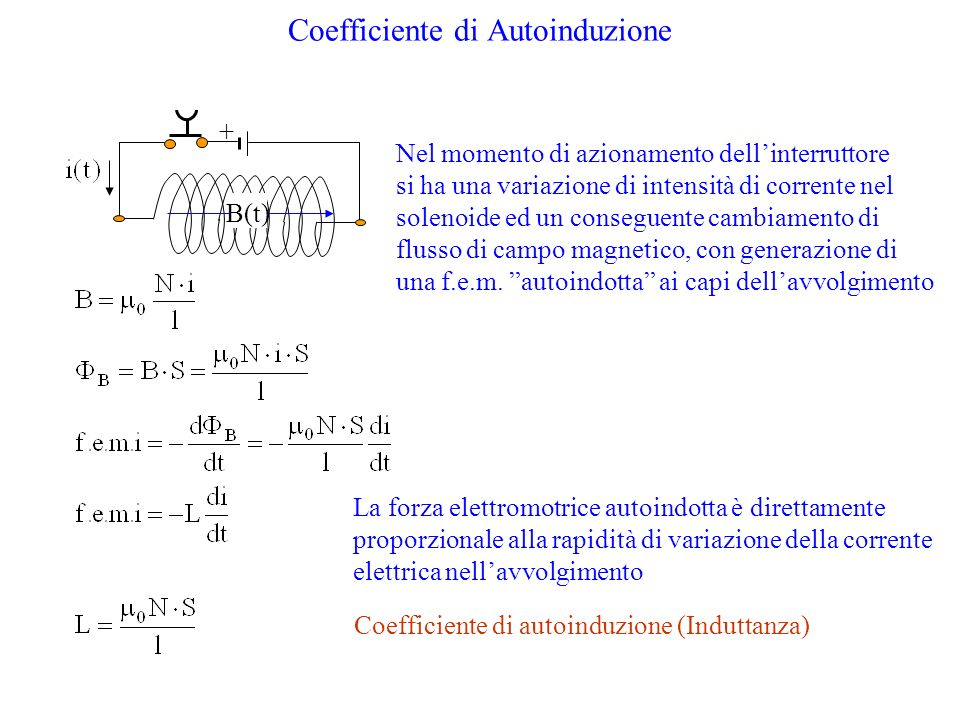 Coefficiente di Autoinduzione