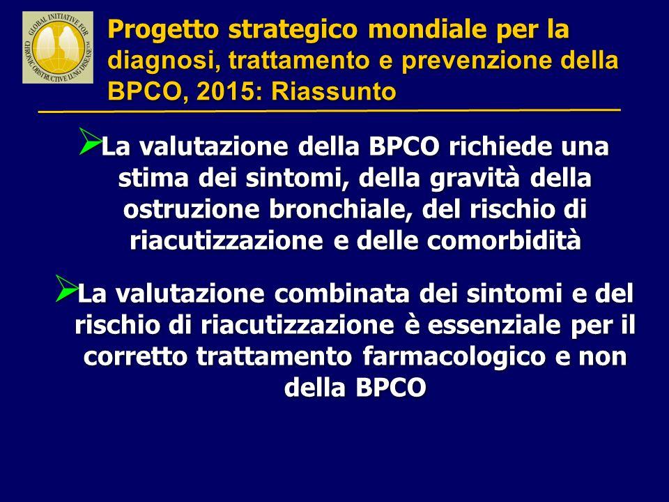 Progetto strategico mondiale per la diagnosi, trattamento e prevenzione della BPCO, 2015: Riassunto