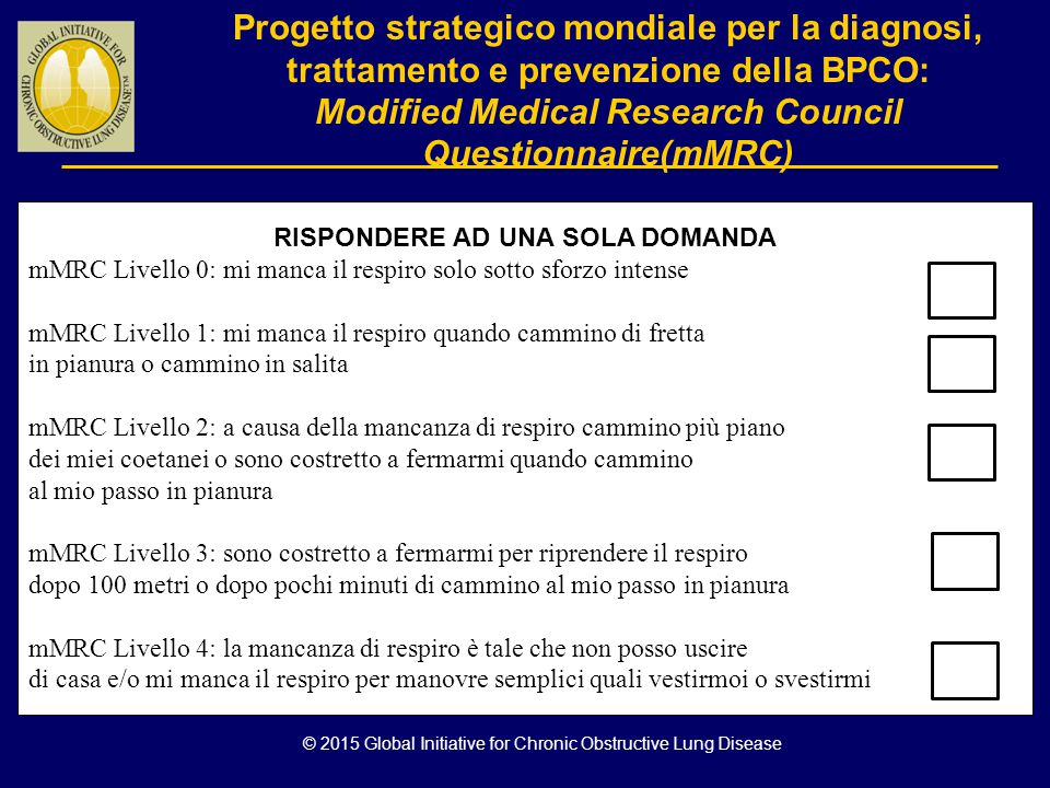 Modified Medical Research Council Questionnaire(mMRC)