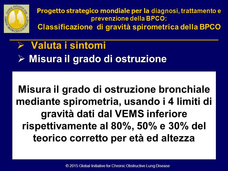 Classificazione di gravità spirometrica della BPCO