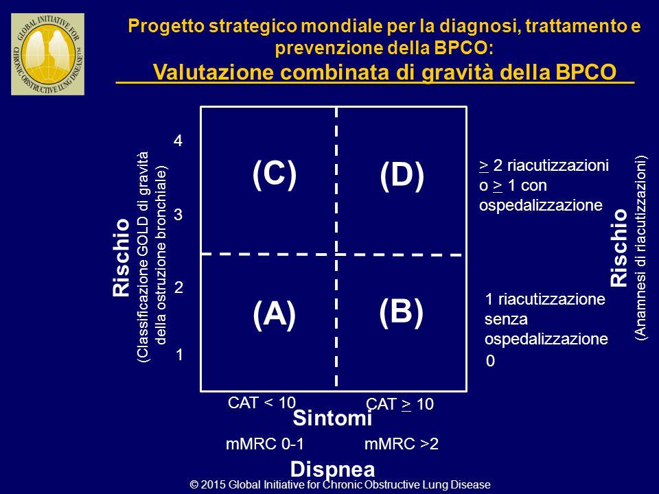 (C) (D) (B) (A) Rischio Rischio Sintomi Dispnea