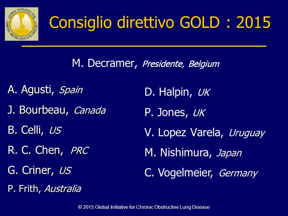 Consiglio direttivo GOLD : 2015
