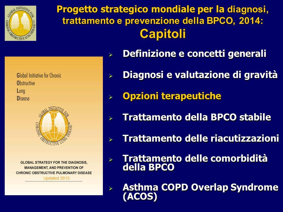 Progetto strategico mondiale per la diagnosi, trattamento e prevenzione della BPCO, 2014: