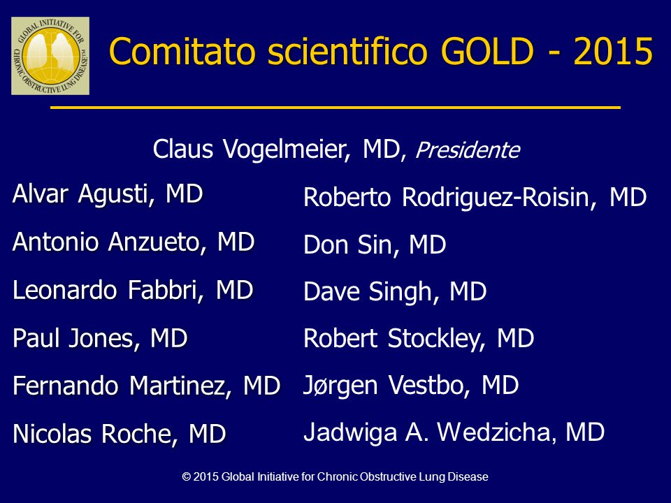 Comitato scientifico GOLD - 2015