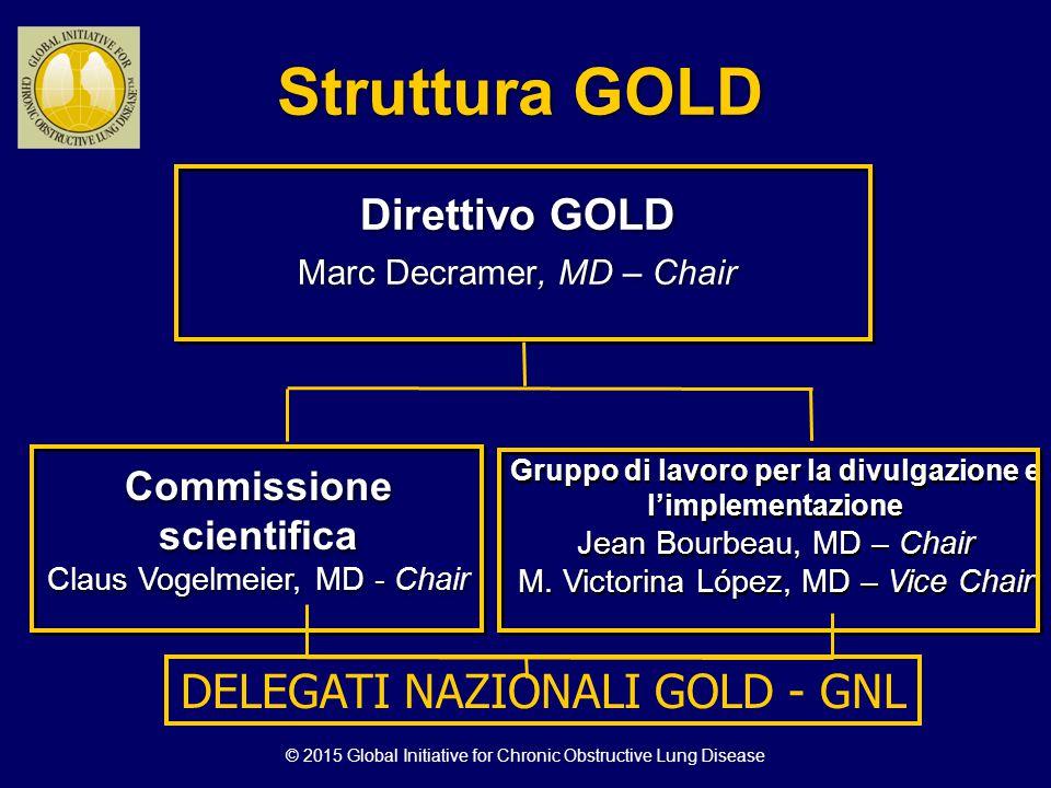 Struttura GOLD DELEGATI NAZIONALI GOLD - GNL Direttivo GOLD
