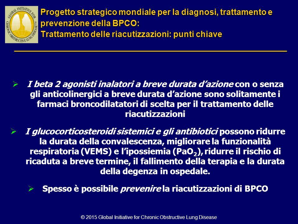 Spesso è possibile prevenire la riacutizzazioni di BPCO