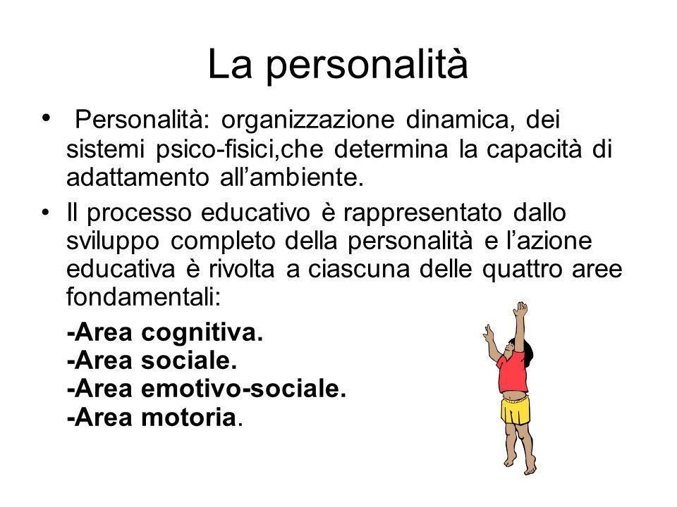 La personalità Personalità: organizzazione dinamica, dei sistemi psico-fisici,che determina la capacità di adattamento all'ambiente.