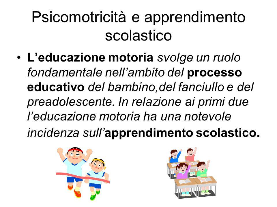 Psicomotricità e apprendimento scolastico
