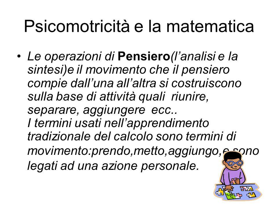 Psicomotricità e la matematica