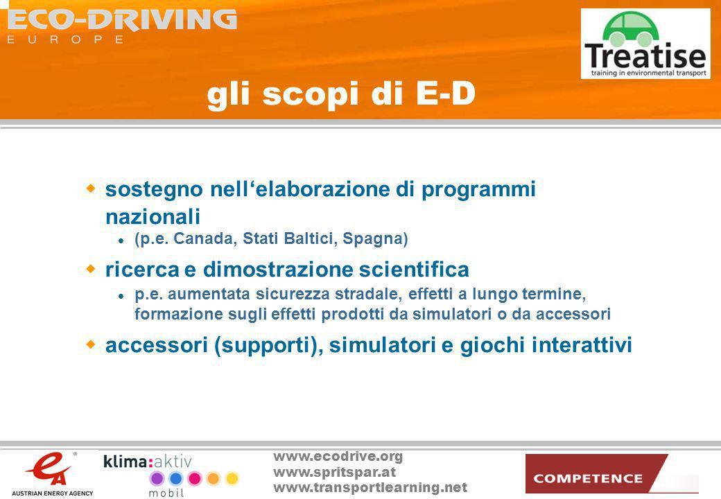 gli scopi di E-D sostegno nell'elaborazione di programmi nazionali