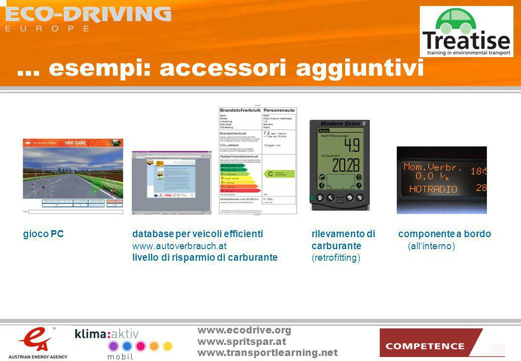 ... esempi: accessori aggiuntivi