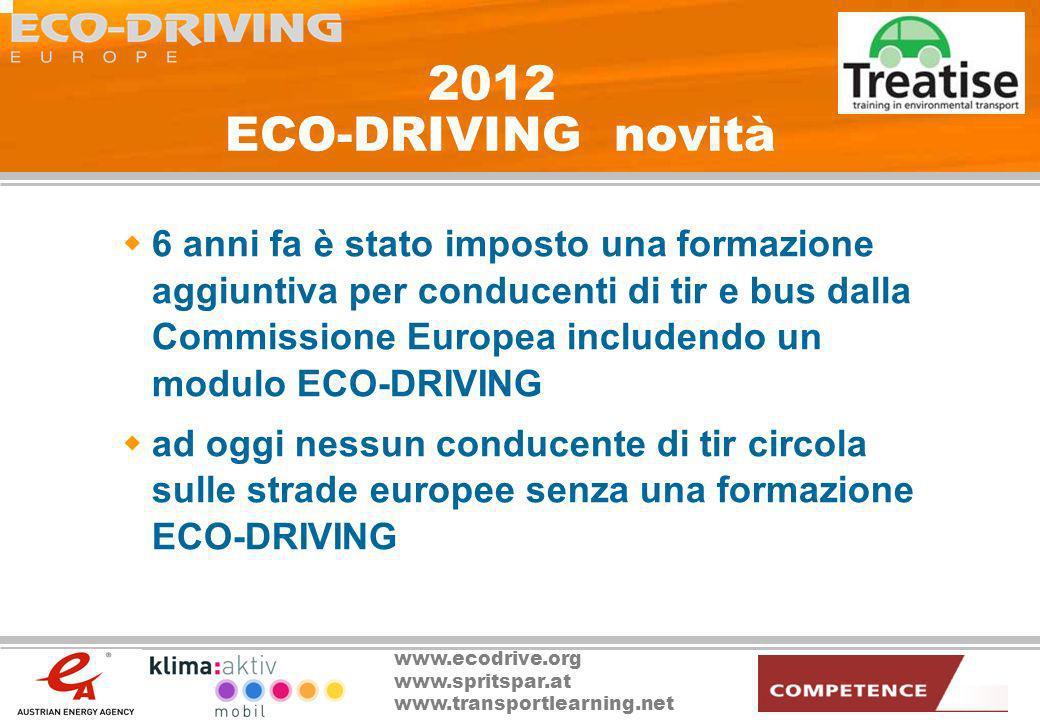 2012 ECO-DRIVING novità