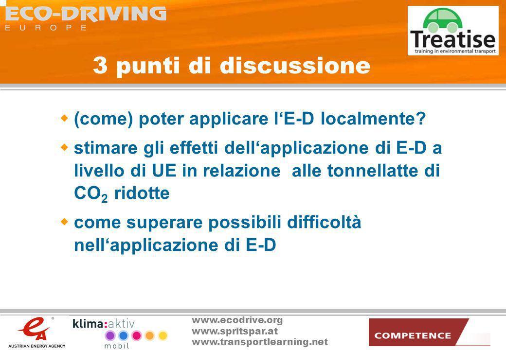 3 punti di discussione (come) poter applicare l'E-D localmente