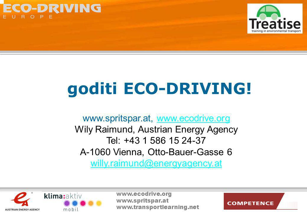 goditi ECO-DRIVING! www.spritspar.at, www.ecodrive.org