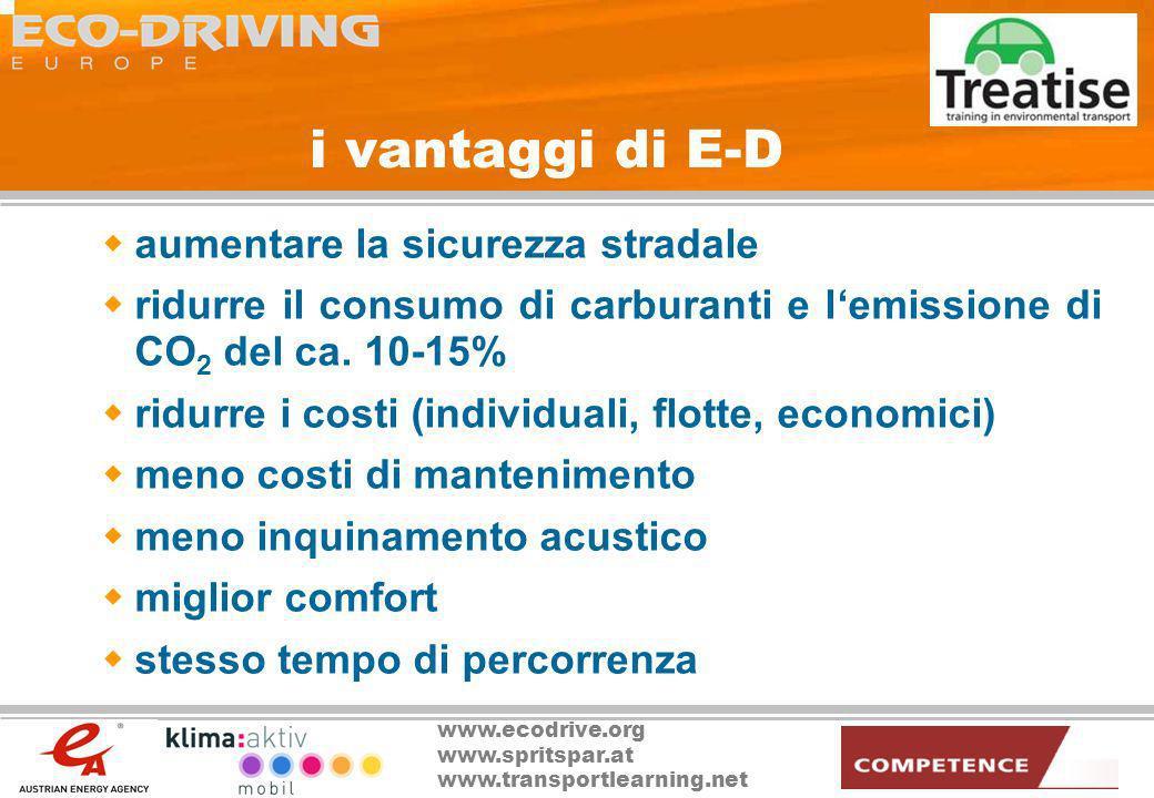 i vantaggi di E-D aumentare la sicurezza stradale