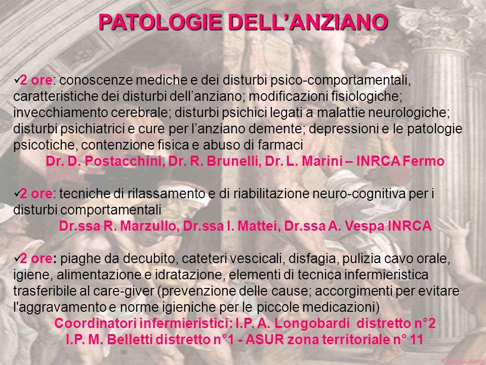 PATOLOGIE DELL'ANZIANO
