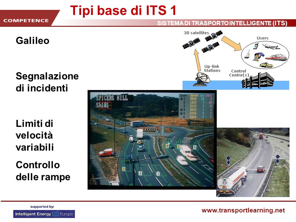 Tipi base di ITS 1 Galileo Segnalazione di incidenti