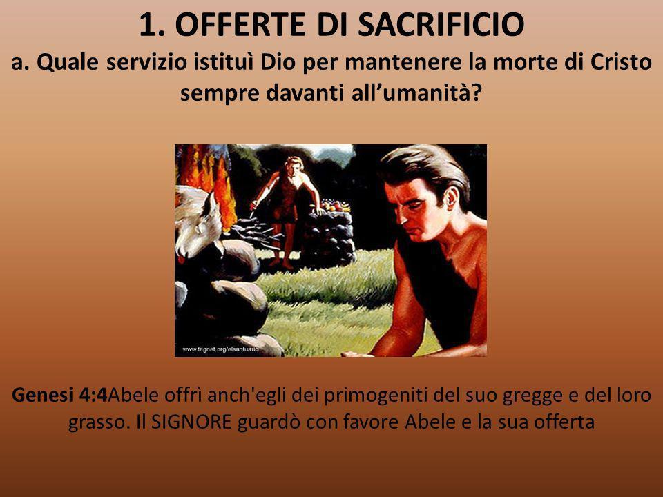 1. OFFERTE DI SACRIFICIO a