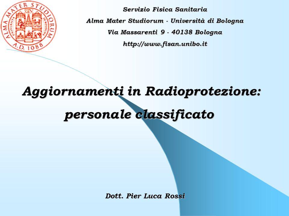 Aggiornamenti in Radioprotezione: personale classificato