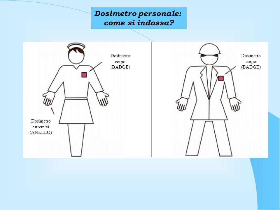 Dosimetro personale: come si indossa