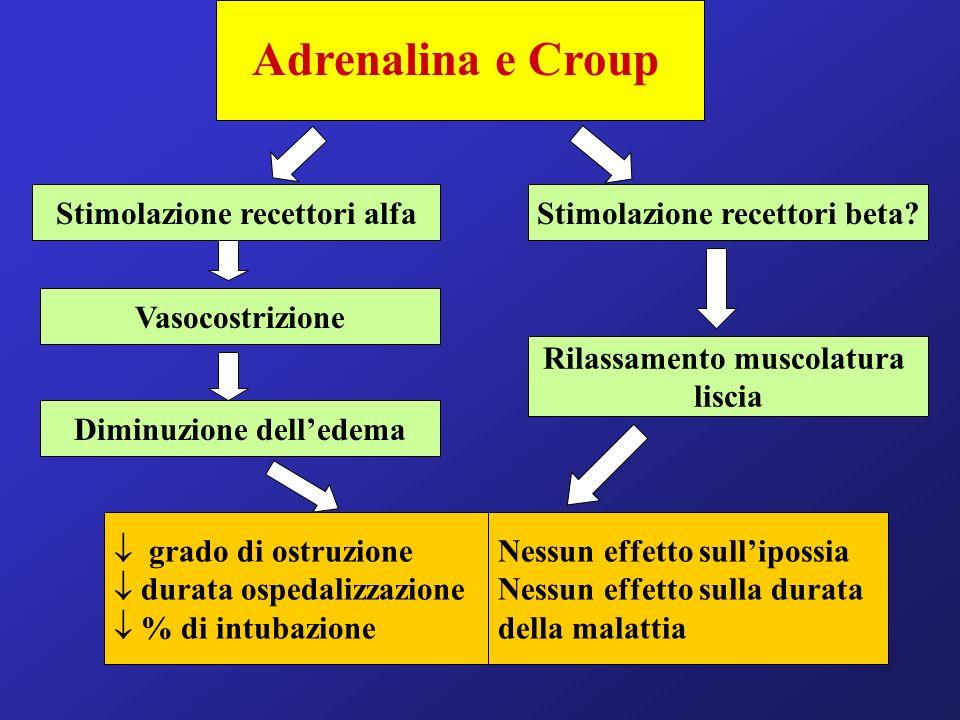 Adrenalina e Croup Stimolazione recettori alfa