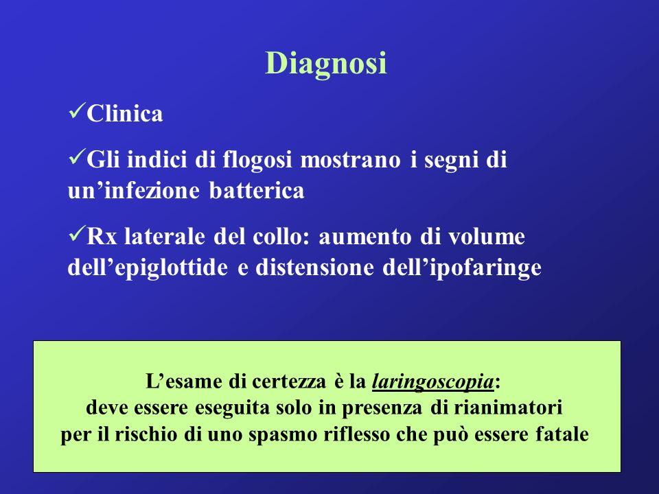 Diagnosi Clinica. Gli indici di flogosi mostrano i segni di un'infezione batterica.