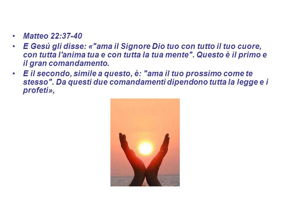 Matteo 22:37-40