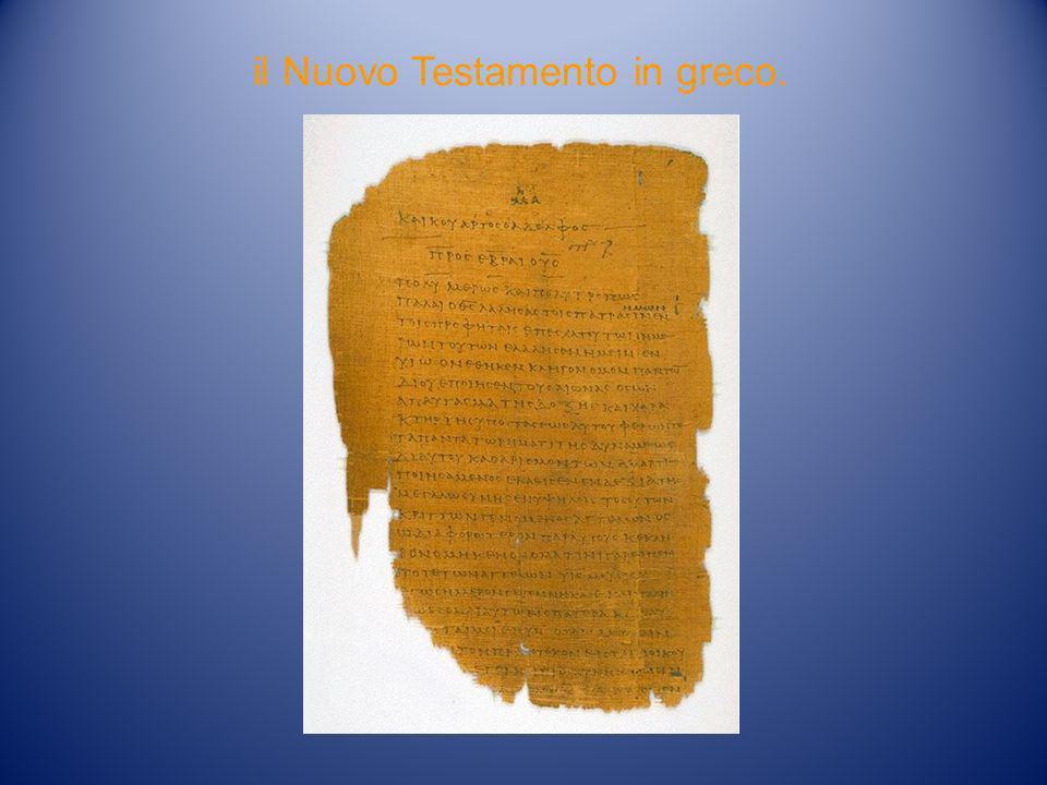 il Nuovo Testamento in greco.