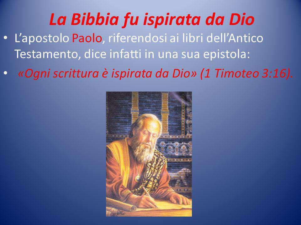 La Bibbia fu ispirata da Dio