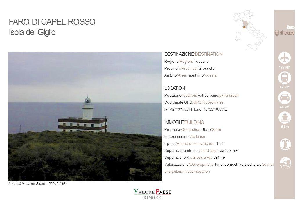 FARO DI CAPEL ROSSO Isola del Giglio faro lighthouse
