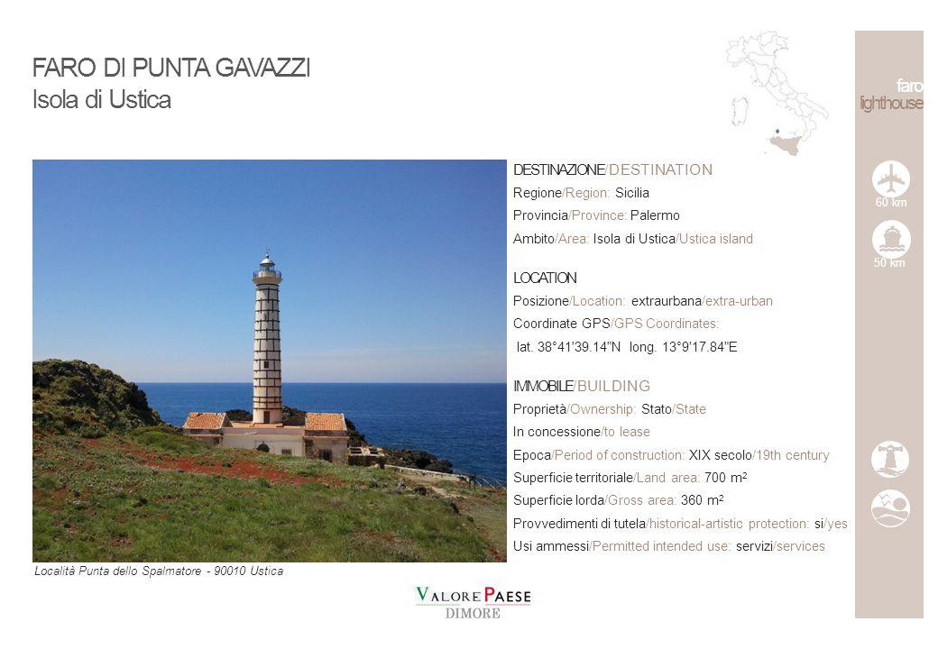 FARO DI PUNTA GAVAZZI Isola di Ustica faro lighthouse