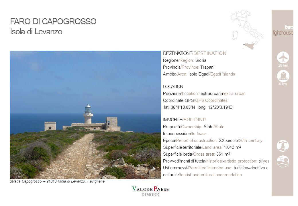 FARO DI CAPOGROSSO Isola di Levanzo faro lighthouse