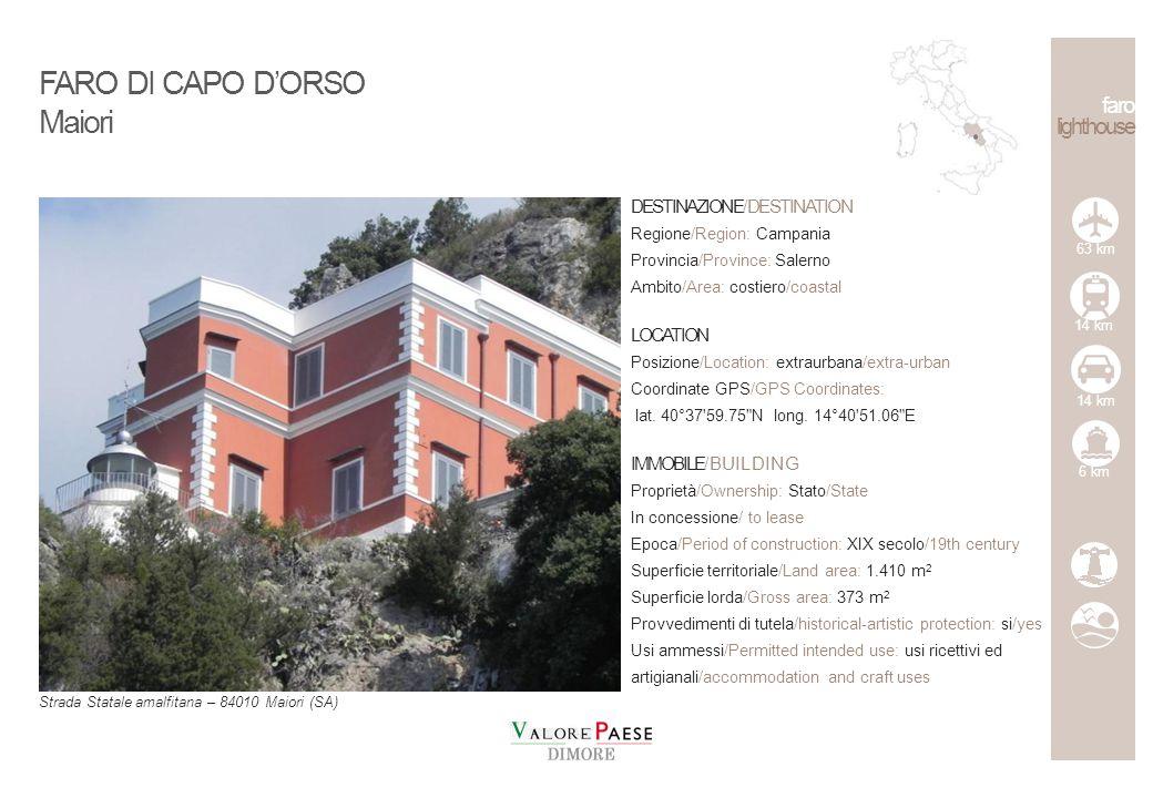 FARO DI CAPO D'ORSO Maiori faro lighthouse DESTINAZIONE/DESTINATION