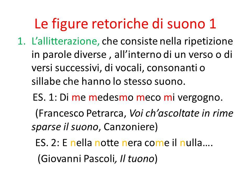 Le figure retoriche di suono 1