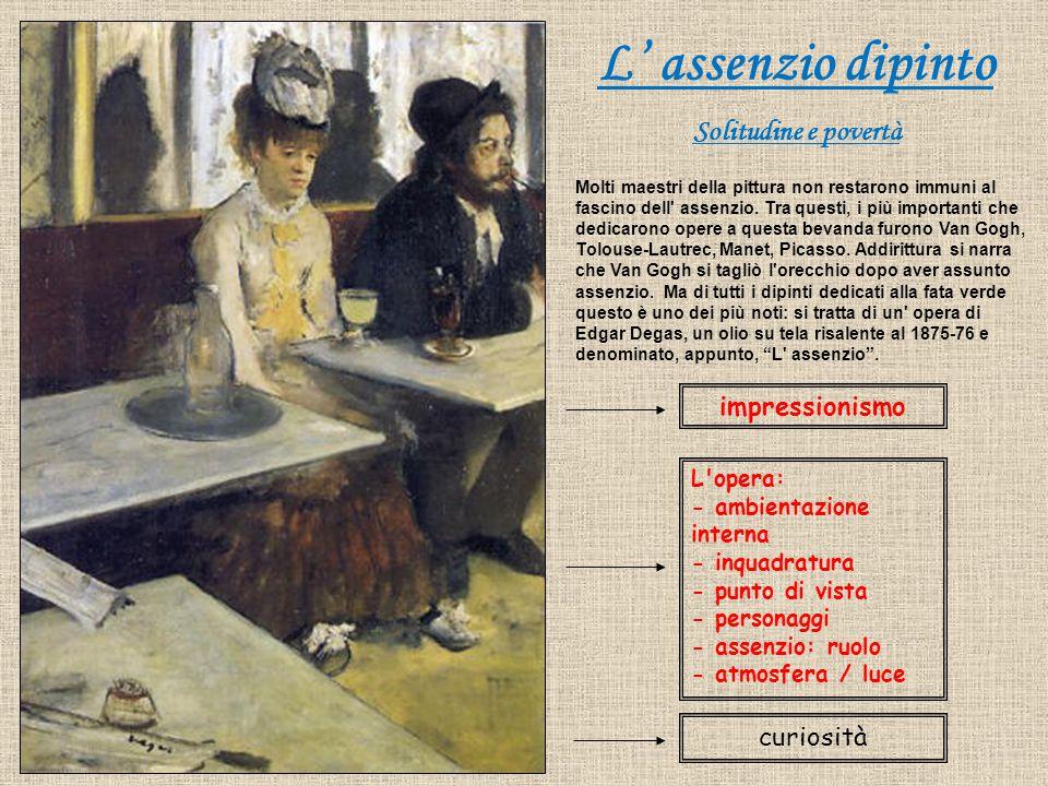 L' assenzio dipinto Solitudine e povertà impressionismo curiosità