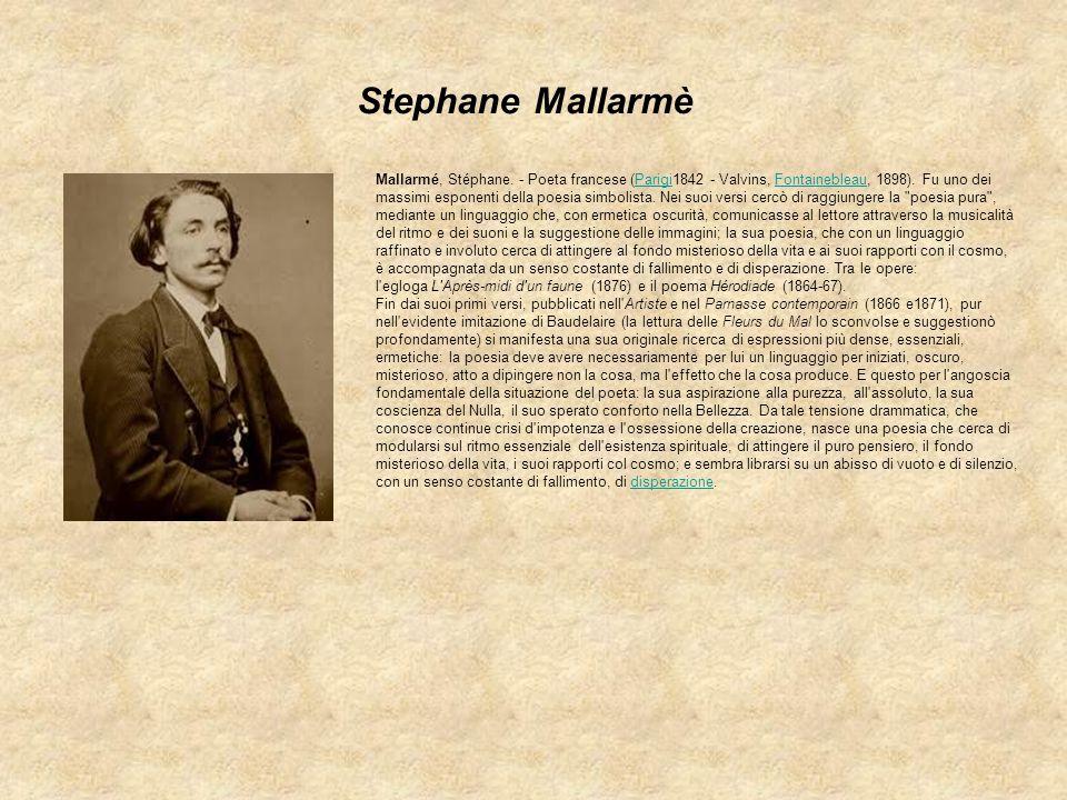 Stephane Mallarmè