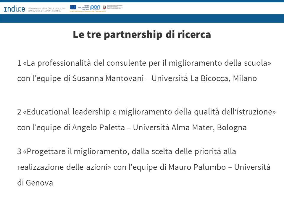 Le tre partnership di ricerca