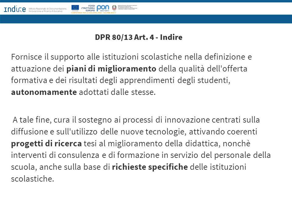 DPR 80/13 Art. 4 - Indire