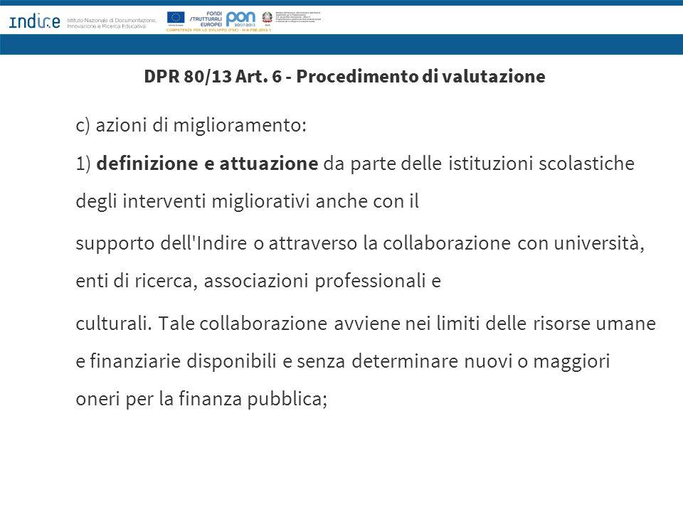 DPR 80/13 Art. 6 - Procedimento di valutazione