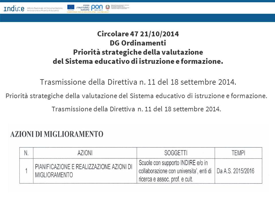 Trasmissione della Direttiva n. 11 del 18 settembre 2014.