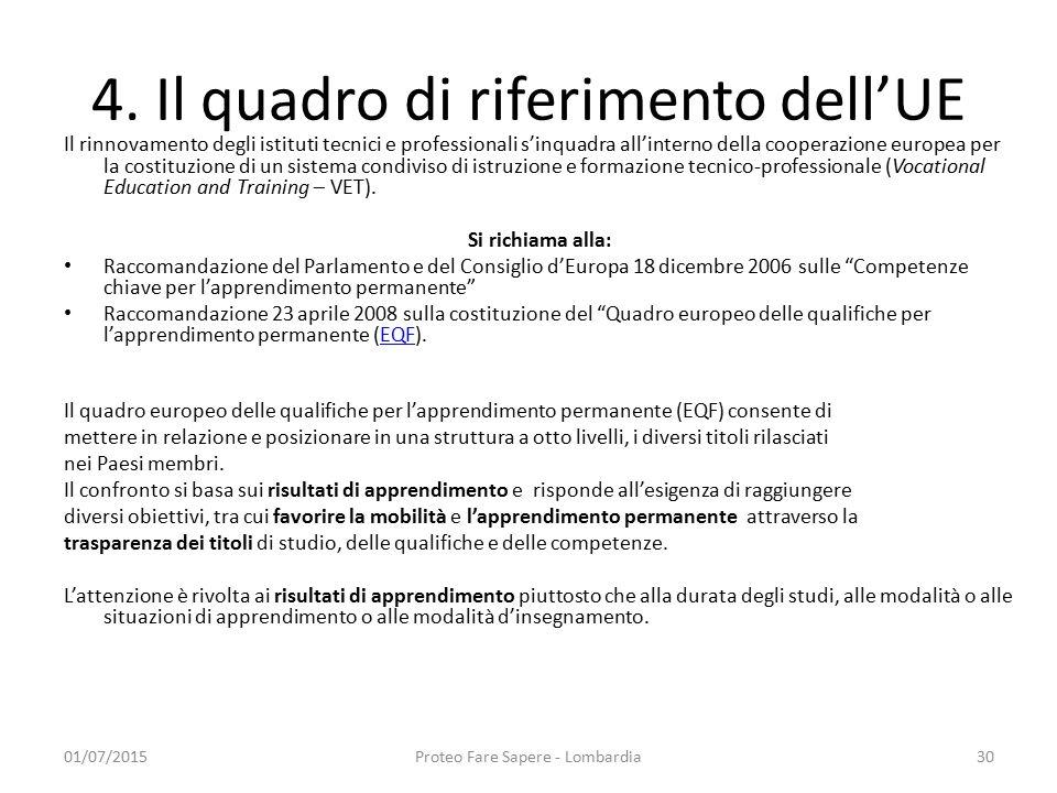 4. Il quadro di riferimento dell'UE