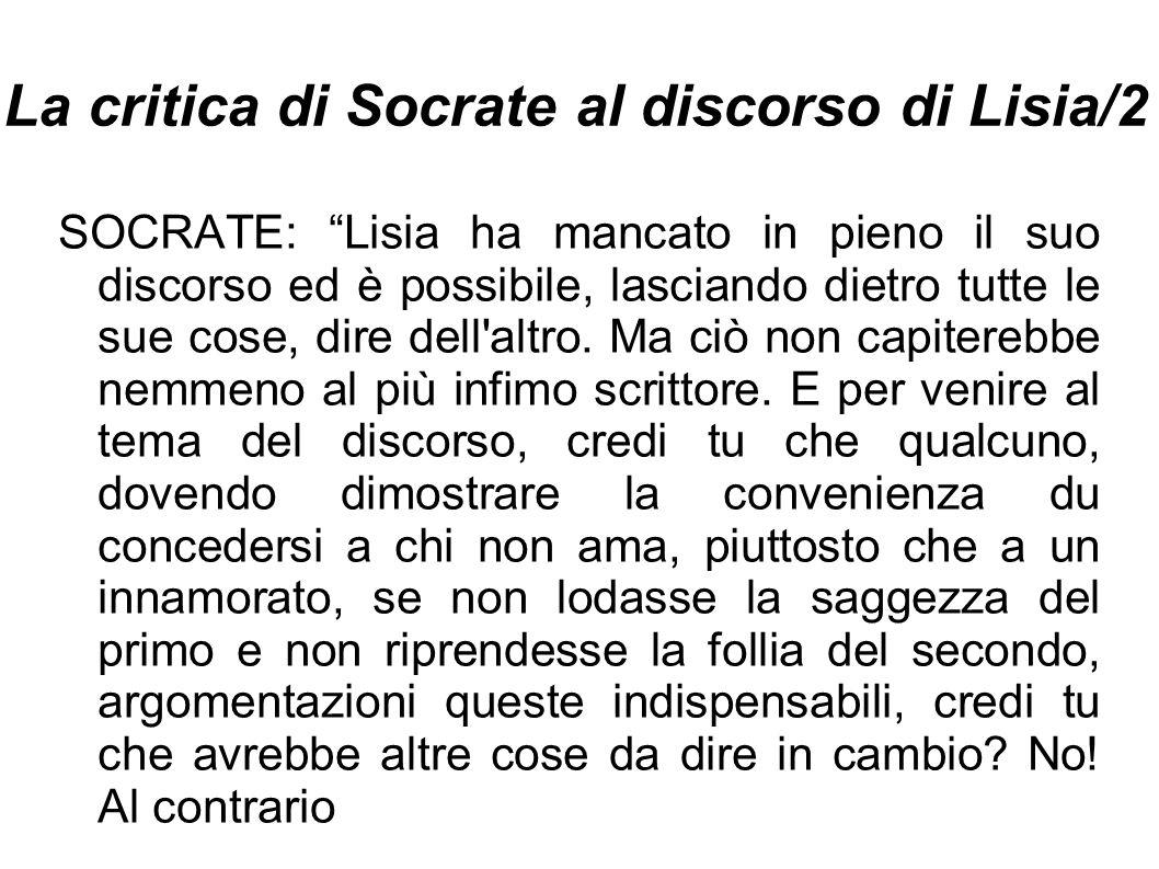 La critica di Socrate al discorso di Lisia/2