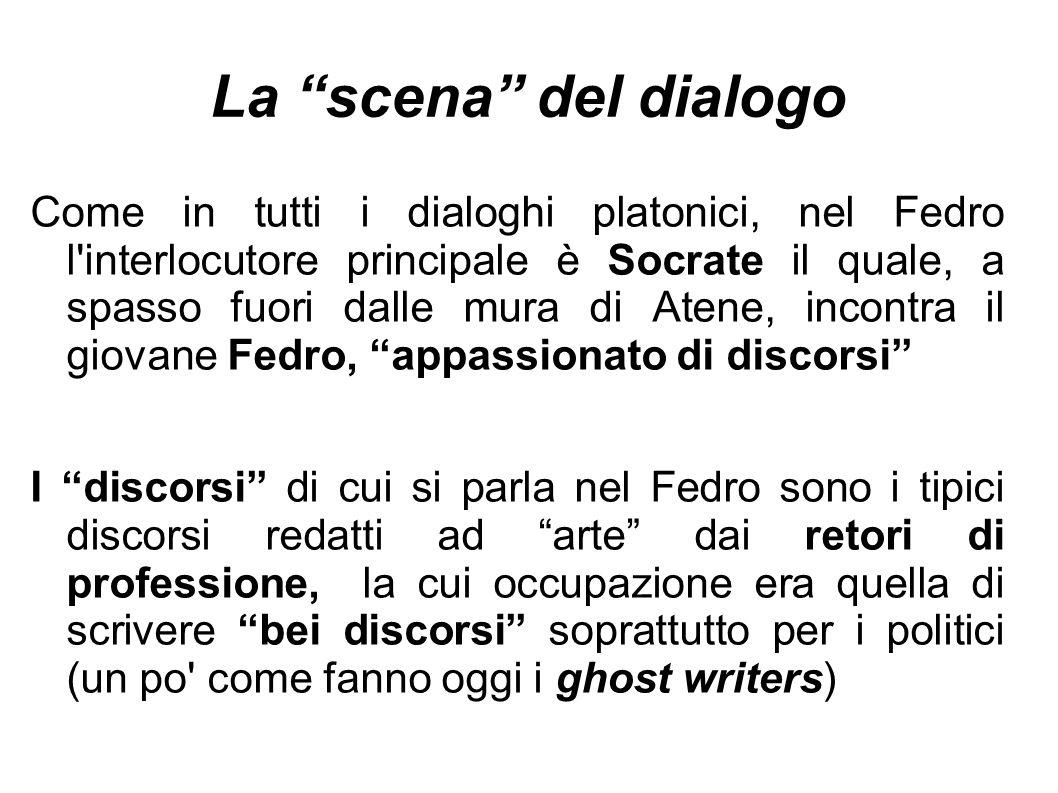 La scena del dialogo