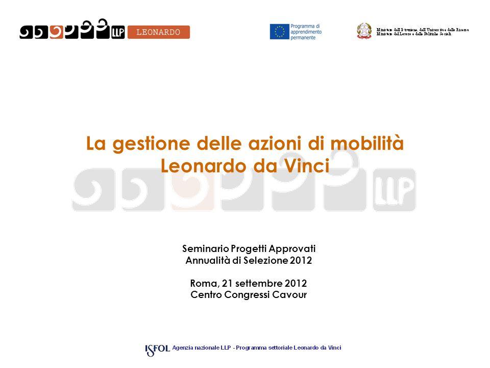 La gestione delle azioni di mobilità Leonardo da Vinci