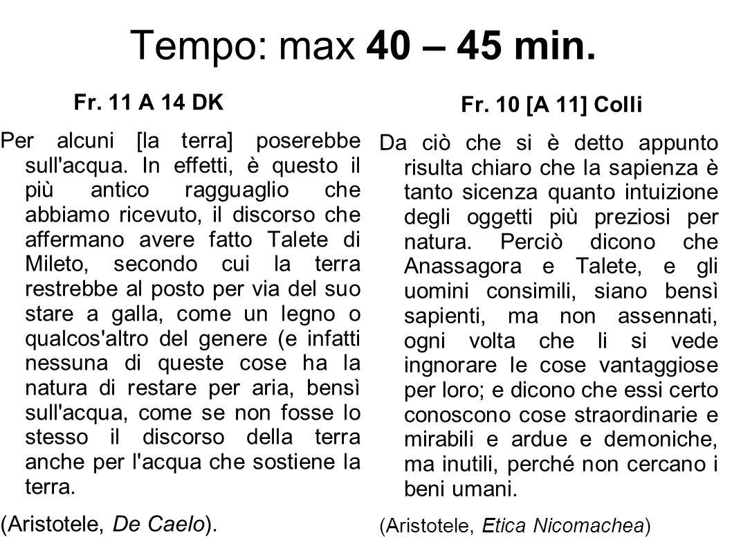 Tempo: max 40 – 45 min. Fr. 11 A 14 DK.