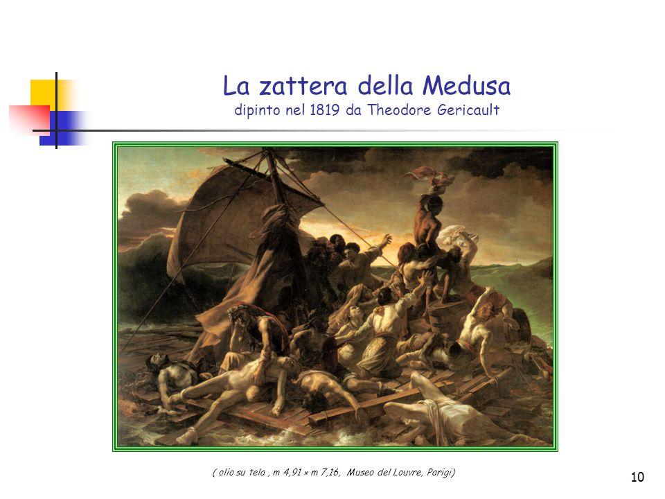 La zattera della Medusa dipinto nel 1819 da Theodore Gericault
