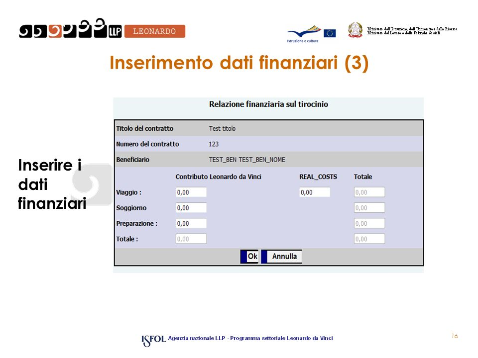 Inserimento dati finanziari (3)