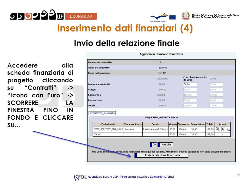Inserimento dati finanziari (4)