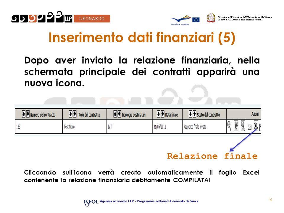 Inserimento dati finanziari (5)